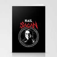carl sagan Stationery Cards featuring HAIL SAGAN by Normal-Sized Deet