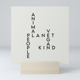 Go Vegan for the Planet (and the Animals, and the People) Mini Art Print