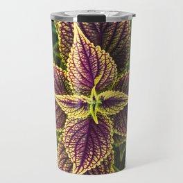 Plant Patterns - Coleus Colors Travel Mug