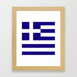 Greece flag emblem Framed Art Print