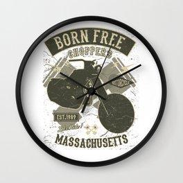 Born Free Choppers - Massachusetts Wall Clock