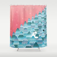 outdoor Shower Curtains featuring Tree Hugger by littleclyde