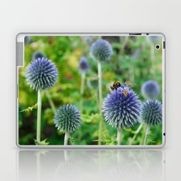 The Buzz in the Garden Blue Globe Flowers Laptop & iPad Skin