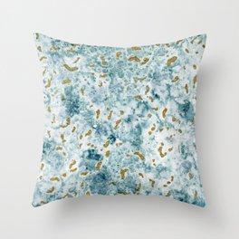 Gold sea Throw Pillow