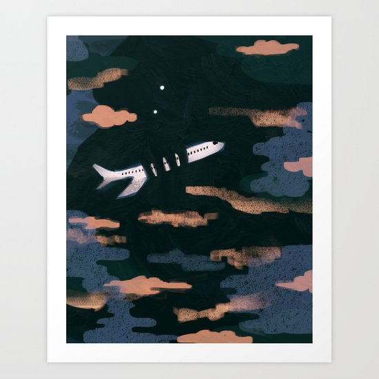Airplane Angst Art Print