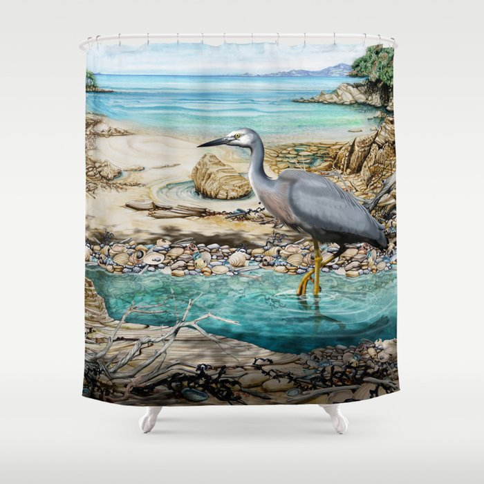 Lunch at the Beach Shower Curtain