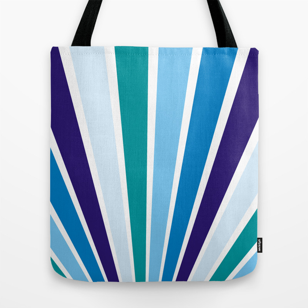 Blue Rays Tote Bag by Artiseverything TBG7870746