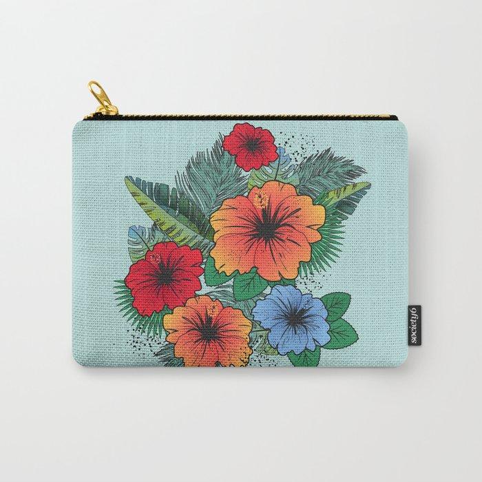 Hawaiian Flowers Carry-All Pouch