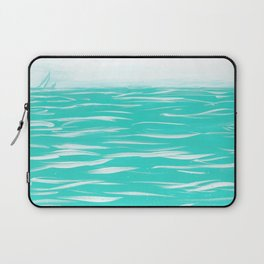 Sailing Across A Turquoise Sea Laptop Sleeve