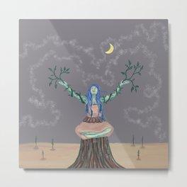 Hopeful Tree Meditation Metal Print