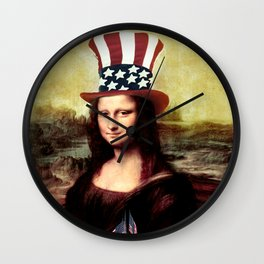 Patriotic Mona Lisa Wall Clock