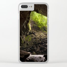 View from inside deer cave in gunung mulu national park looking outside Clear iPhone Case
