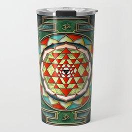 Maha Lakshmi (Laxmi) Mantra & Shri Yantra - Wealth Giving Travel Mug