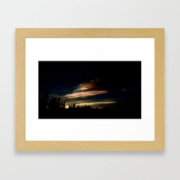 colourful clouds in finland Framed Art Print