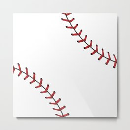 Baseball Laces Metal Print