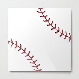 Softball Baseball design red laces Metal Print