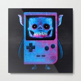 UNDEAD BOY / GAMEBOY / SKULL / 8BIT / NINTENDO / NES Metal Print