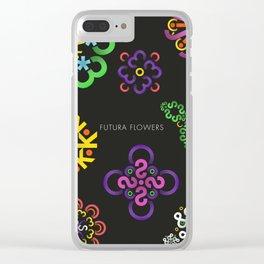 Futura Flowers Clear iPhone Case