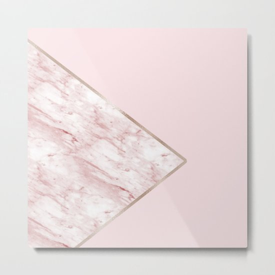 Blush pink geo - pink marble by marbleco