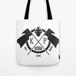 KP Design : Art - Love - Moto Crest Logo Tote Bag