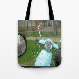 rainy day scooter Tote Bag