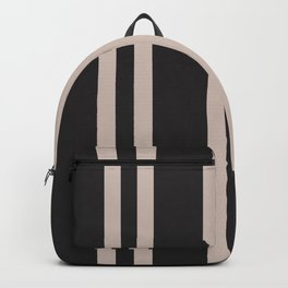 Cabana Poolside Vertical Double Stripe Black and Neutral Backpack
