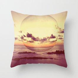 Moonset Throw Pillow