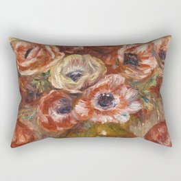 "Auguste Renoir ""Anémones dans un vase"" Rectangular Pillow"