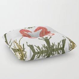 Mirroring Seahorses Floor Pillow