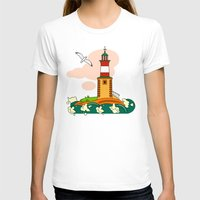 lighthouse T-shirts featuring Lighthouse by LaDa