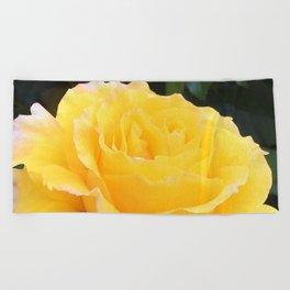 My Yellow Rose Beach Towel