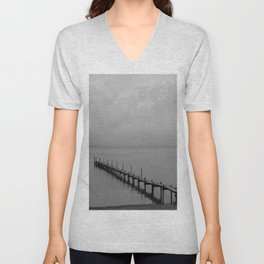 Misty Morning At The Lake Unisex V-Neck