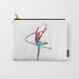Rhythmic Gymnastics Print Sports Print Watercolor Print Carry-All Pouch