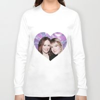 sarah paulson Long Sleeve T-shirts featuring Sarah Paulson and Lily Rabe AHS Freakshow by IrasHorrorStory