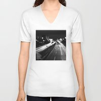 bridge V-neck T-shirts featuring Bridge by Adrián Peñalver