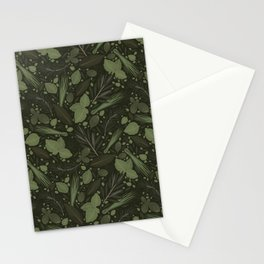 Green Herbs Spices / Olive Green Palette Stationery Cards