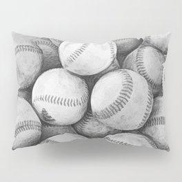 Bucket of Baseballs in Black and White Pillow Sham