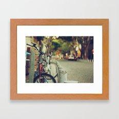 The street is quiet Framed Art Print