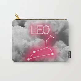 Neon Leo Constellation Carry-All Pouch