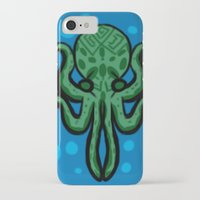 cthulhu iPhone & iPod Cases featuring Cthulhu by kelseycadaver