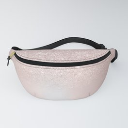 Rose gold glitter ombre metallic gradient Fanny Pack