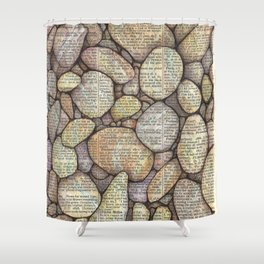 Bed of Stone Shower Curtain