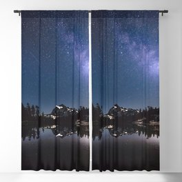 Summer Stars - Galaxy Mountain Reflection - Nature Photography Blackout Curtain
