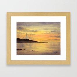 Sunset At Turnberry Scotland Framed Art Print