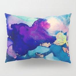 Athena Alcohol Ink and Reactive Foil Artwork Pillow Sham
