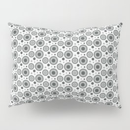 PPG Night Watch Pewter Green Polka Dots and Circles Pattern on White Pillow Sham