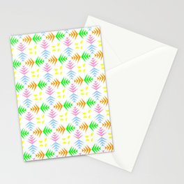 symmetric patterns 104 with a multicolor wheat pattern Stationery Cards