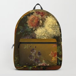 """George Jacobus Johannes van Os """"Still Life with Flowers"""" Backpack"""