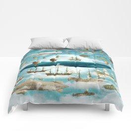 Ocean Meets Sky - option Comforters