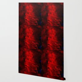 Red Abstract Paint Wallpaper